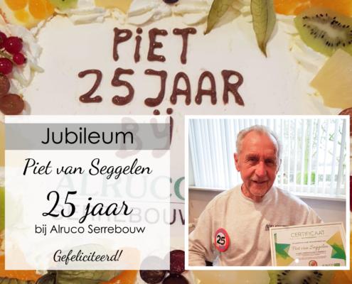 25 jarig jubileum medewerker alruco