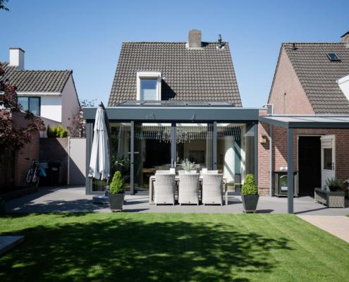 Serre aanbouw met lichtstraat in Valkenswaard compleet inclusief bouwkundige werkzaamheden door Alruco gerealiseerd.