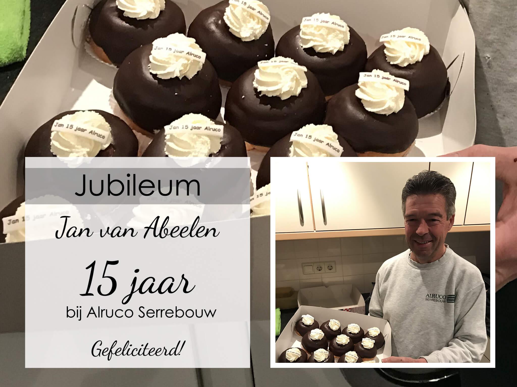 Jan van Abeelen viert zijn 15-jarige jubileum bij Alruco Serrebouw