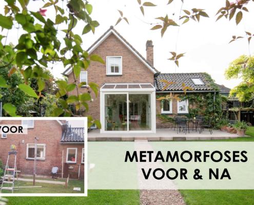 Metamorfoses voor en na woninguitbreidingen