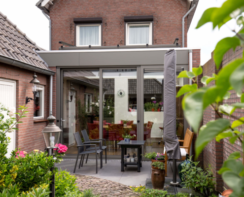 Een klassieke serre aanbouw in Waalwijk