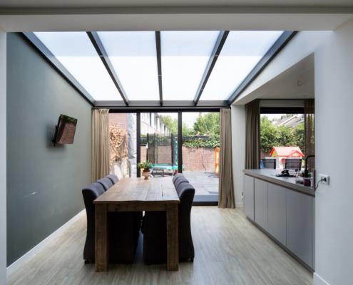 Serre verbouwing naar luxe woonkeuken