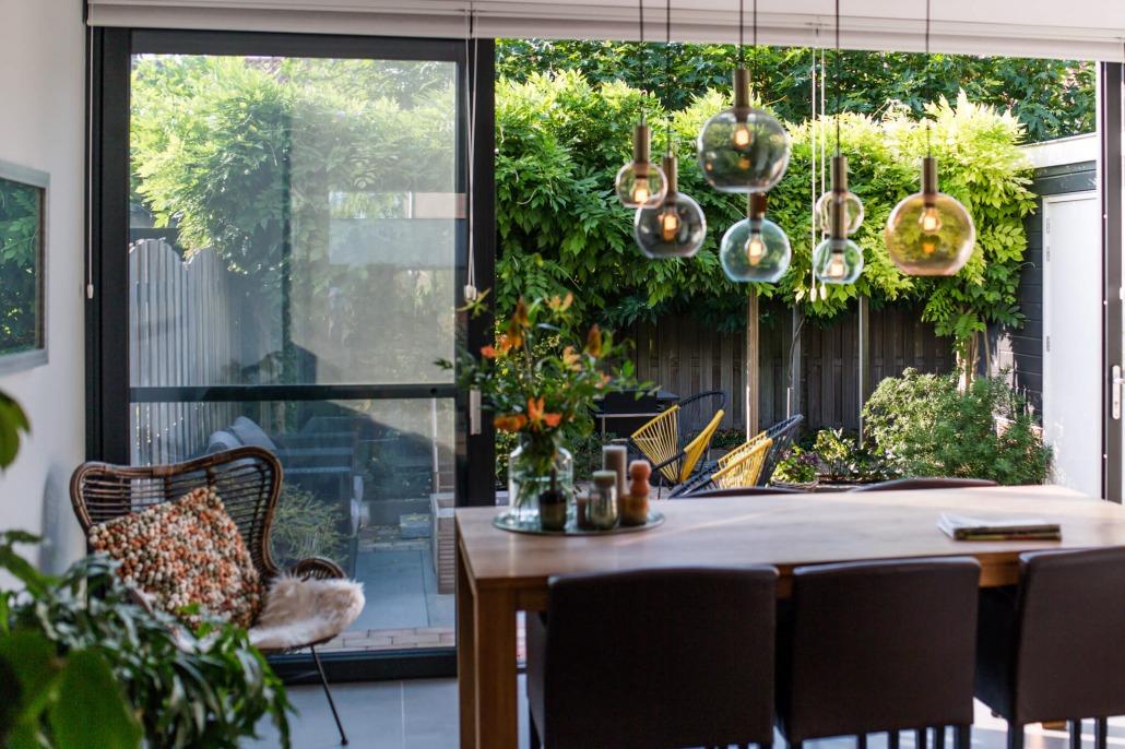 Tuin met overkapping Alruco Serrebouw